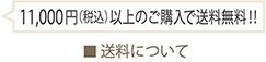 10,000円以上のご購入で送料無料!!
