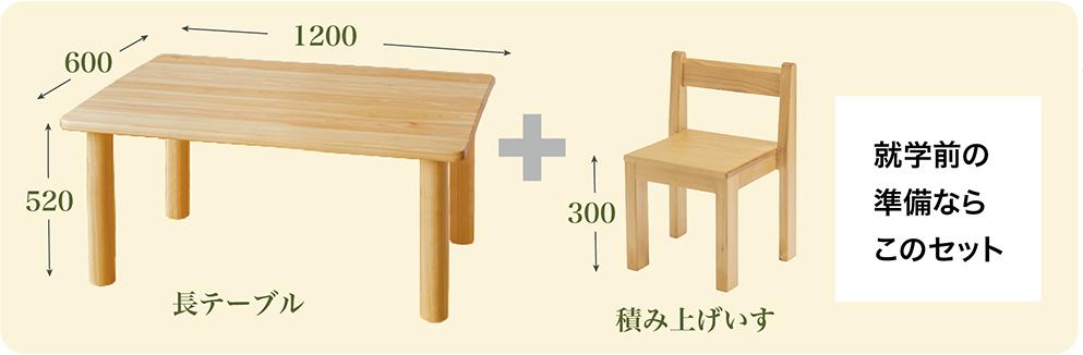 4歳~5歳におすすめキッズテーブルと積み上げ椅子のセット