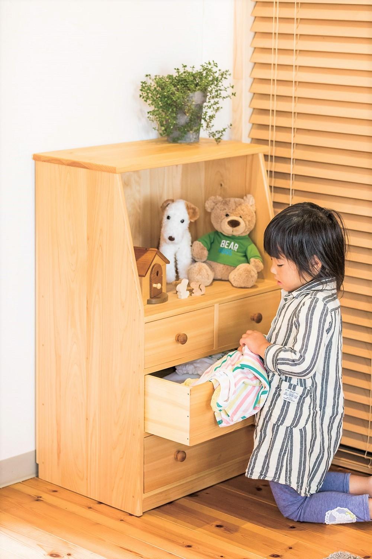 木製子どもチェスト