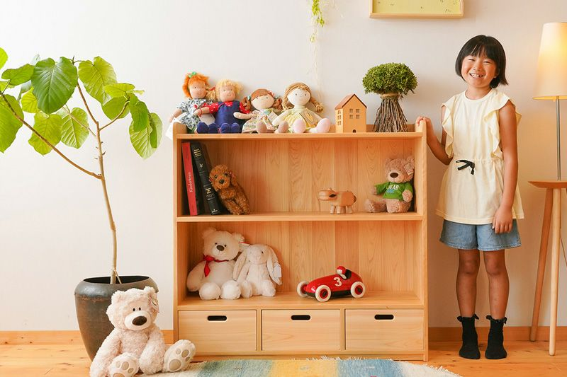 絵本とおもちゃの棚100cm