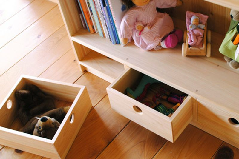 絵本とおもちゃの棚65cm