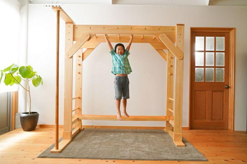 木製室内用雲梯