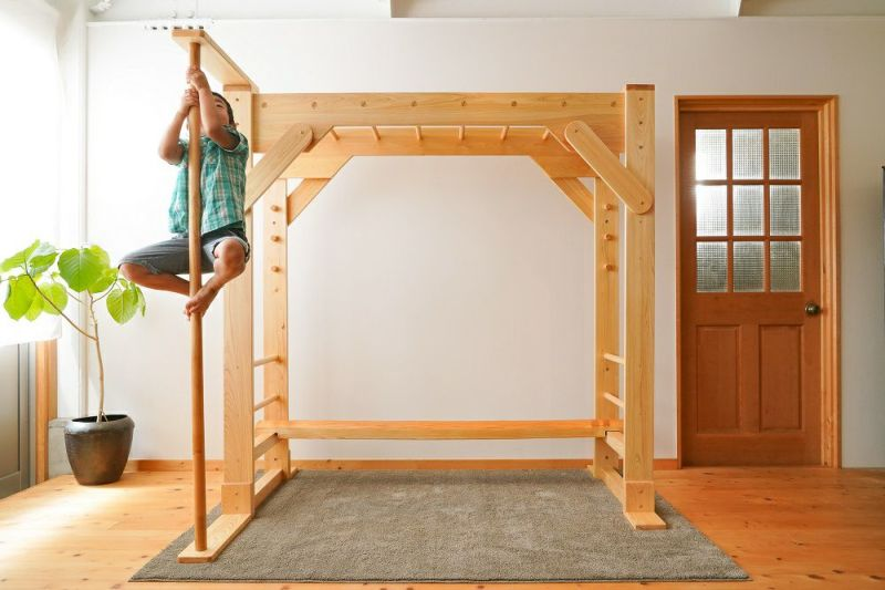 木製室内用 雲梯 登り棒
