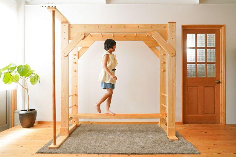 木製室内用 雲梯 平均台