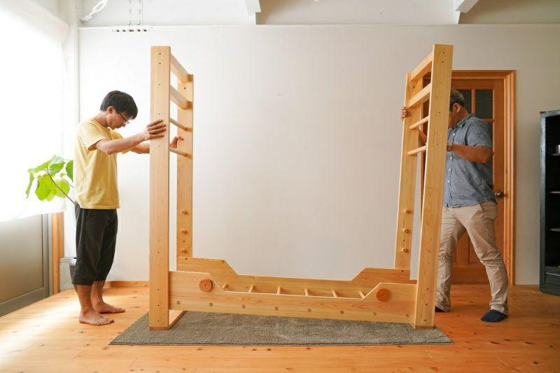 室内うんてい組み立て方2