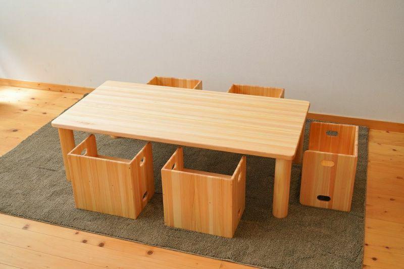 長方形の角テーブル