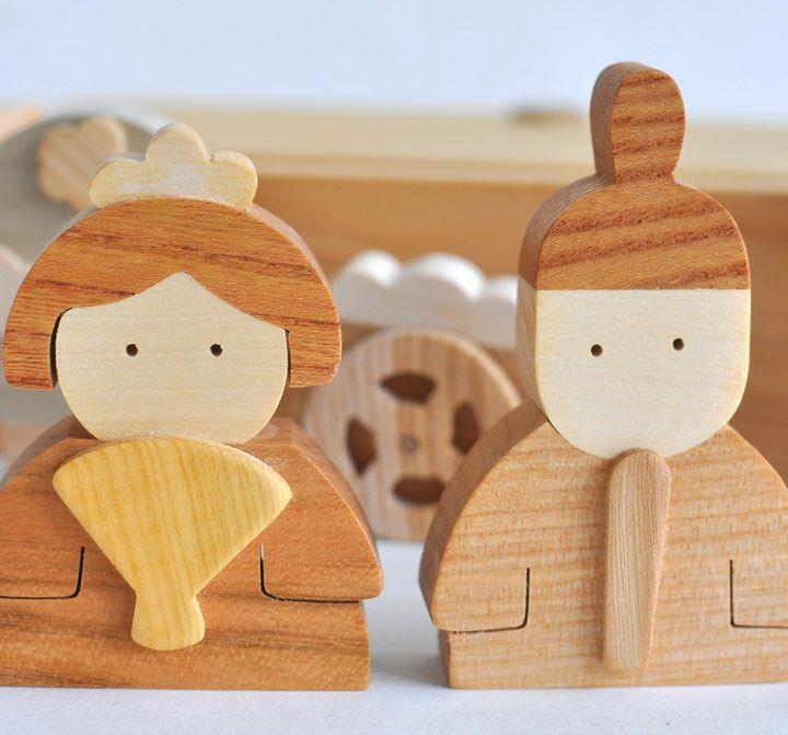 日本の美しい木材で作る雛人形